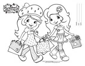 free strawberry shortcake coloring pages