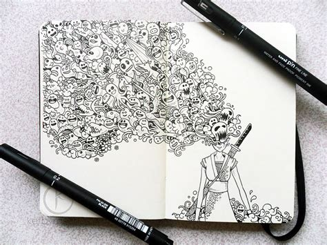 Impressively Detailed Pen Doodles By Kerby Rosanes Bored