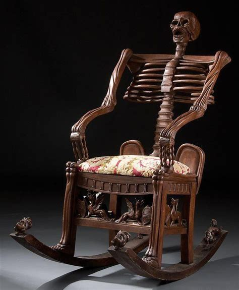 skeleton couch skeletal rocking chair neatorama