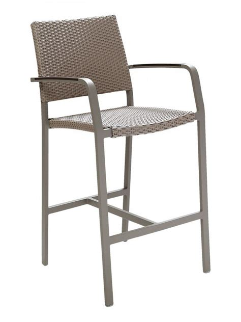wicker bar stools with arms florida seating commercial aluminum wicker bar stool with
