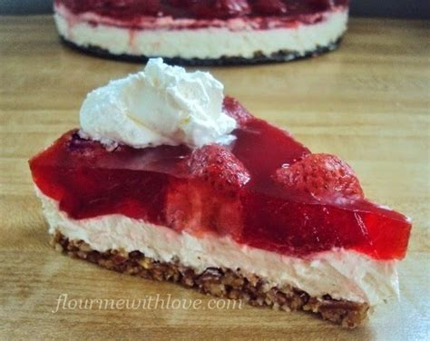 Prince Strawberry And Sweet Desserts 01 Freesul lower carb sugar free strawberry quot no pretzel quot dessert flour me with