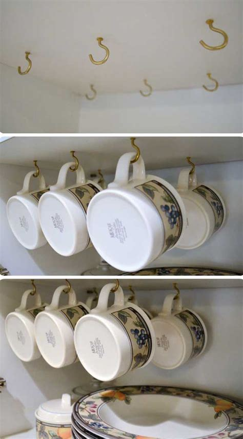 cabinet mug rack 13 brilliant diy mug racks you ll