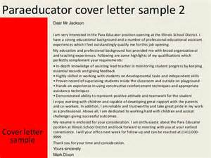 paraeducator cover letter