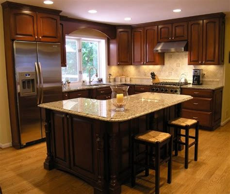 Kitchen Countertop And Backsplash Combinations by Santa Cecilia Granite With Dark Cabinets Backsplash Ideas