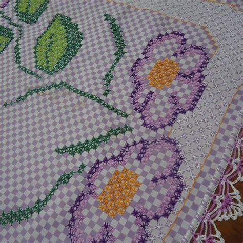 bicos de croch elo7 caminho de mesa bordado carmela arte cia elo7