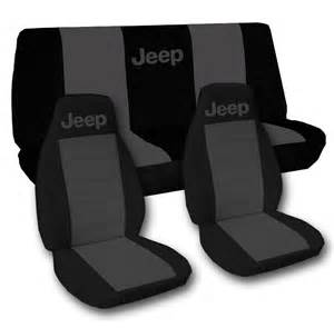 Car Seat Covers For Jeep Grand Laredo Front Rear Black And Charcoal Jeep Seat Covers Jeep Grand