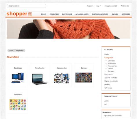 nopcommerce free templates nopcommerce free template quot shopper quot responsive ecommerce