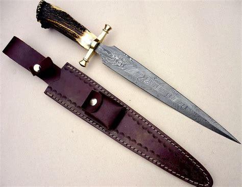 arkansas knife custom damascus steel bowie knife dagger sword stag crown arkansas toothpick ebay