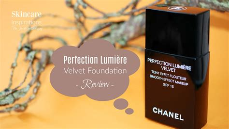 Chanel Perfection Lumiere Velvet Foundation chanel perfection lumi 232 re velvet foundation skincare inspirations