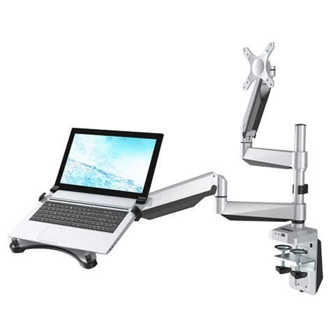 Laptop Arms Desk Mount Loctek D7dp Dual Monitor Arm For Laptop Monitor Notsitting