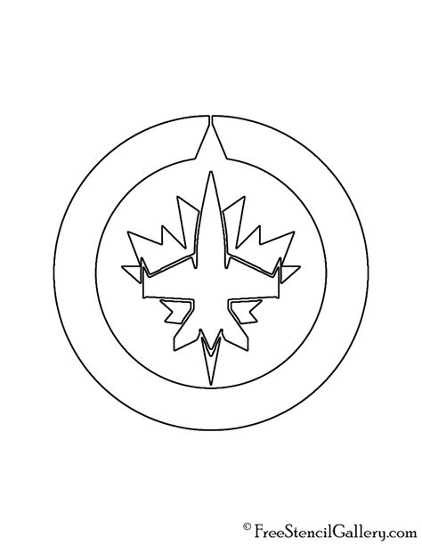 jets hockey coloring pages nhl winnipeg jets logo stencil free stencil gallery