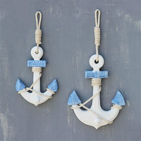 Anchor Decor by Small Size Mediterranean Style Anchor Wall Hangings