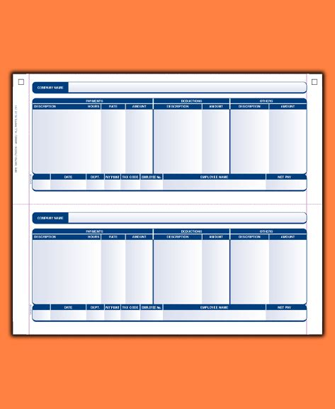 8 blank payslip template uk salary slip