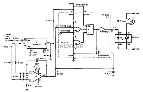 telephone circuit diagram telephone ringer circuit schematic how to build