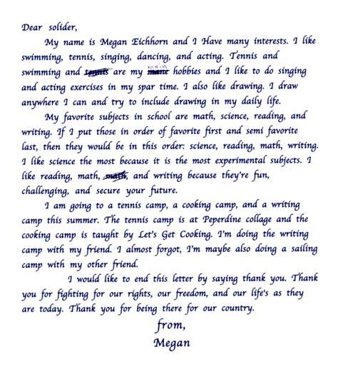 Thank You Letter To A Dear Esercerna Dear Soldier
