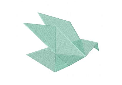 Origami Bird Simple - origami birds machine embroidery designs pack embroidery