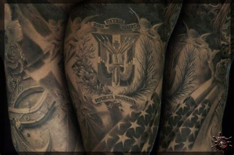 dominican flag tattoo designs anthony s half sleeve by caesar tattoonow