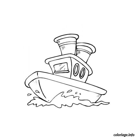 dessin bateau imprimer gratuit coloriage bateau de police jecolorie