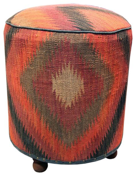 Kilim Storage Ottoman Kilim Ottoman Contemporary Footstools And Ottomans