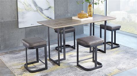 grey counter height table set jansen gray 5 pc counter height dining set dining room