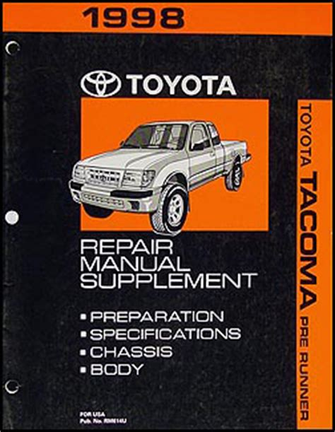 free online auto service manuals 1998 toyota tacoma electronic valve timing 1998 toyota tacoma pickup wiring diagram manual original