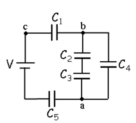 capacitor physics form 5 a circuit is constructed with five capacitors and chegg