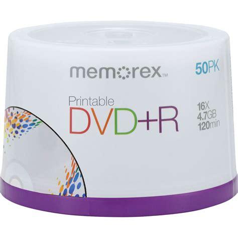 Memorex 4 7gb 16x Dvd R memorex 4 7gb dvd r 16x inkjet printable discs 04753 b h photo