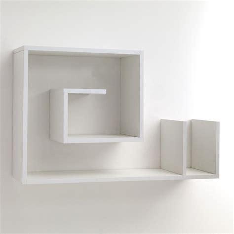 mensola da parete mensola da parete karakol b in legno bianco 90 x 56 cm