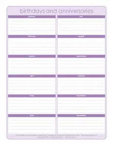 monthly birthday calendar template free monthly birthday calendar template calendar