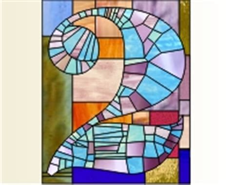 mosaic numbers pattern house numbers stained glass pattern