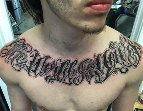 chest lettering by norm will rise inked inkedmag