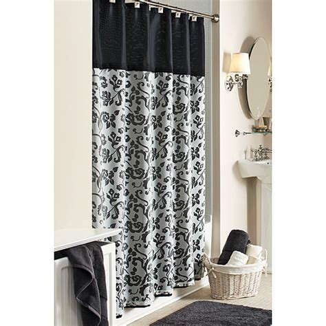 damask bathroom better homes and gardens damask fabric shower curtain