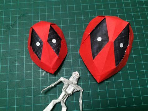 How To Make A Origami Mask - how to make origami deadpool mask