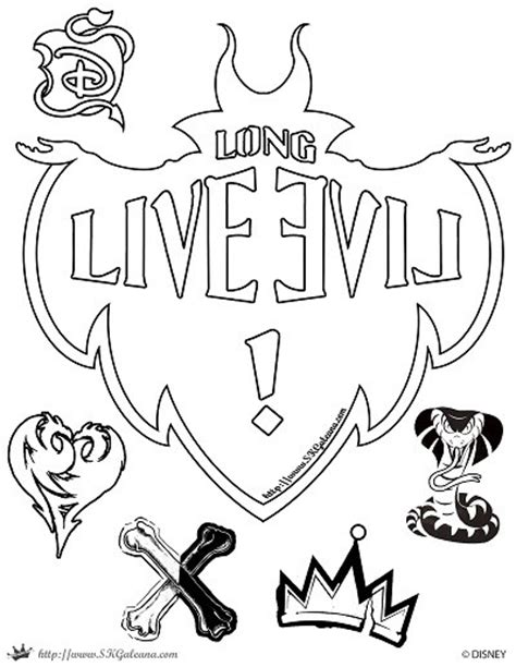 coloring pages of disney descendants free disney descendants coloring pages skgaleana