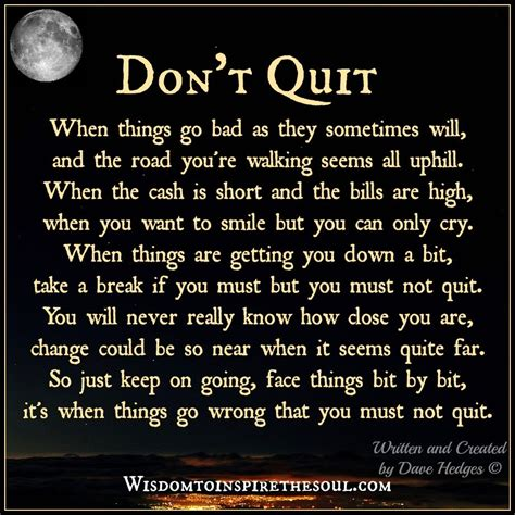 Don T Quit wisdom to inspire the soul don t quit