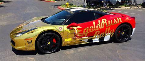 rally ferrari gold chrome ferrari 458 italia for goldrush rally vi