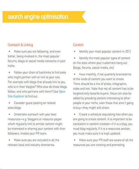 digital business plan template 12 sle digital marketing plan exles in word pdf