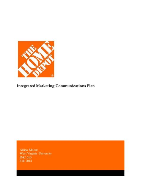 imc 610 imc plan for the home depot