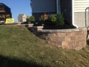 hanover front yard ideas nicolock retaining wall