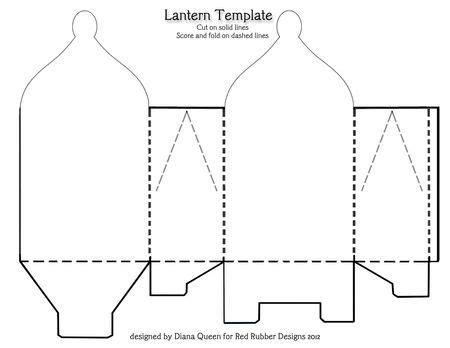 pattern for christmas lantern paper lantern template invitation template