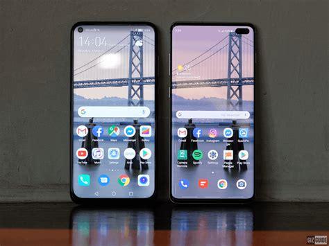 Huawei 4 Vs Samsung Galaxy S10 by Samsung Galaxy S10 Vs Huawei 4 Punch Display Showdown