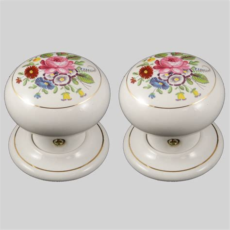Porcelain Door Knobs Floral by Porcelain Door Knobs Floral Chintz Pair The Ceramic Store
