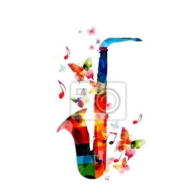 colorful wall murals wall mural colorful saxophone design abstract