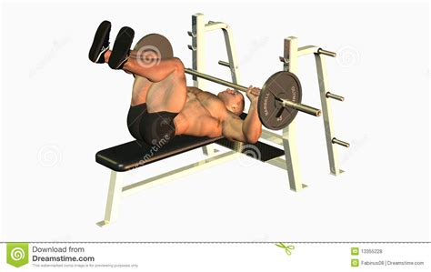 legs up bench press bench press royalty free stock photos image 13355228