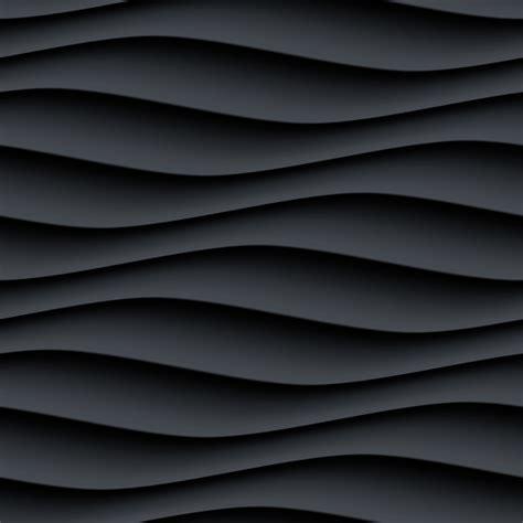 black wavy texture pattern seamless vector  vector