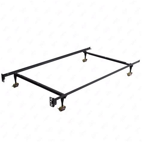 Metal Bed Frame With Wheels Heavy Duty Metal Bed Frame Adjustable Size With Rug