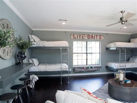 bunk room ideas kids bunk bed and bunkroom design ideas joanna gaines