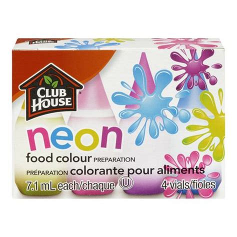 food coloring at walmart club house neon food colour preparation walmart ca