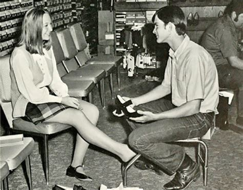 vintage images of shoe shopping and the humble