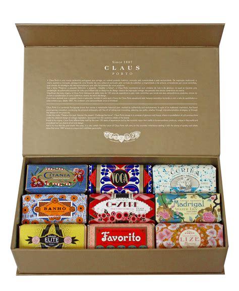 claus porto claus porto gold gift box of 9 mini soaps